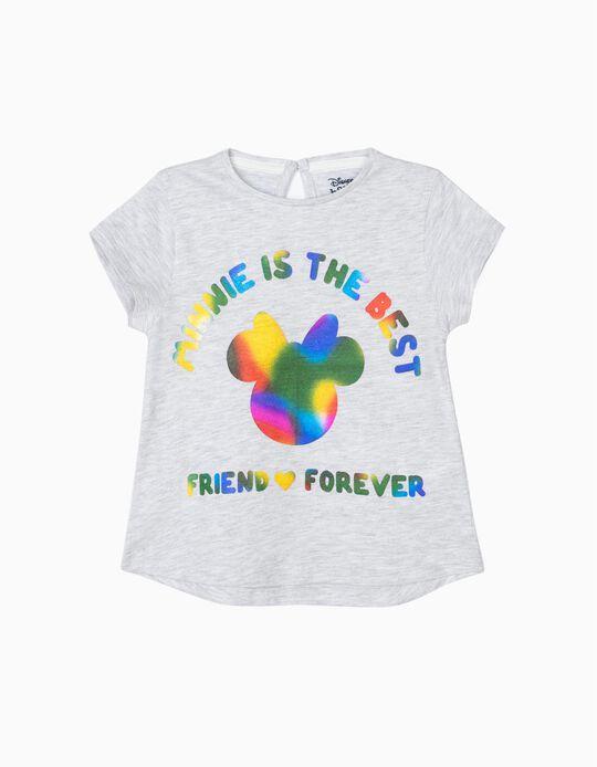 T-shirt para Bebé Menina 'Minnie BFF', Cinza