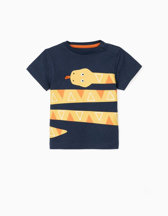 T-shirt for Baby Boys, 'Snake', Dark Blue