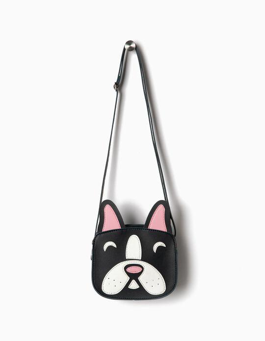 Crossbody Bag for Girls 'Dog', Dark Blue