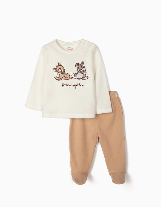Pijama Polar para Bebé 'Better Together', Blanco y Beige