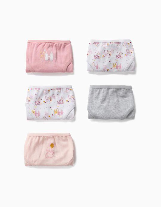 5 Cuecas para Menina 'Swan Princess', Multicolor