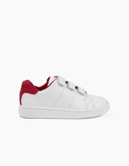 Sapatilhas para Menino 'ZY 1996' com Velcro, Branco e Vermelho