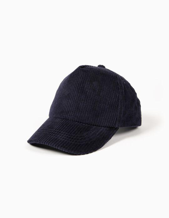 Gorra de Pana Azul