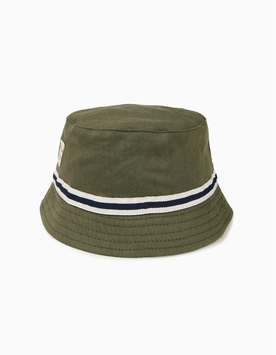 Sombrero para Niño con Banda a Contraste, Verde