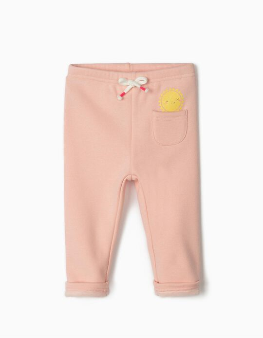 Joggers for Baby Girls 'Sun', Pink