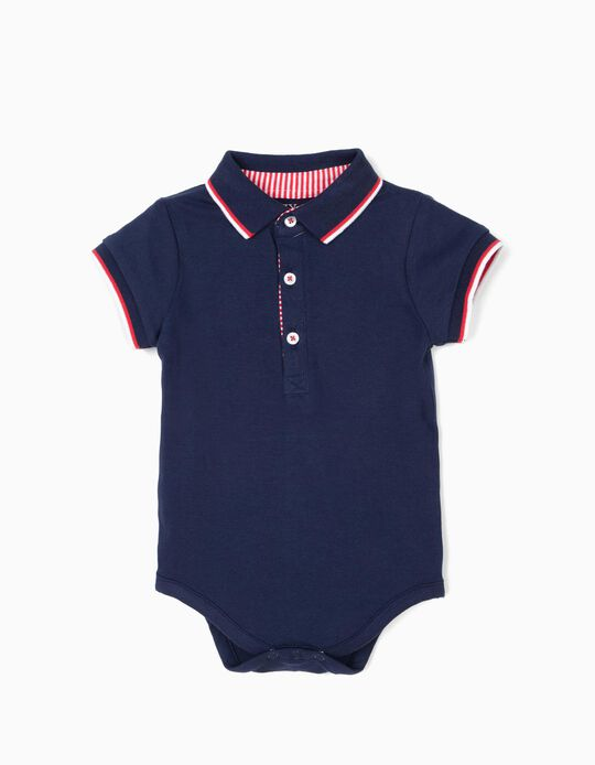 Body Polo para Recién Nacido, Azul Oscuro