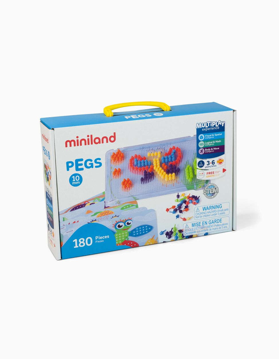Pegs 10 Mm 36m+ Miniland 180 pçs