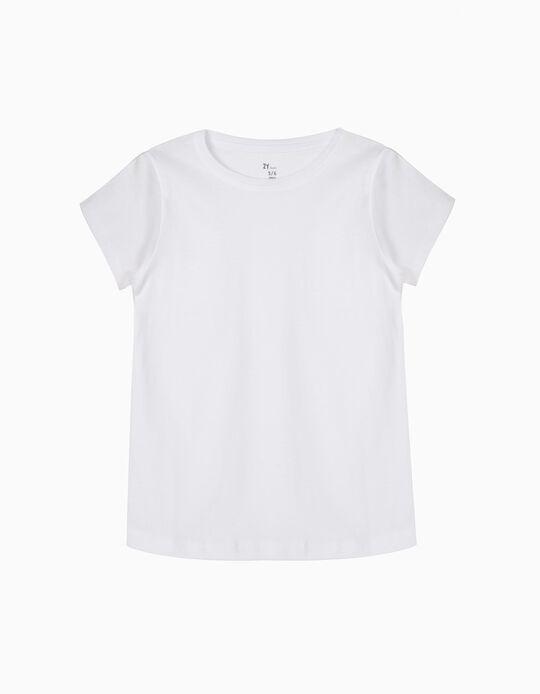 T-Shirt for Girls, White