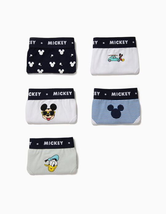 5 Cuecas para Menino 'Mickey & Donald', Multicolor