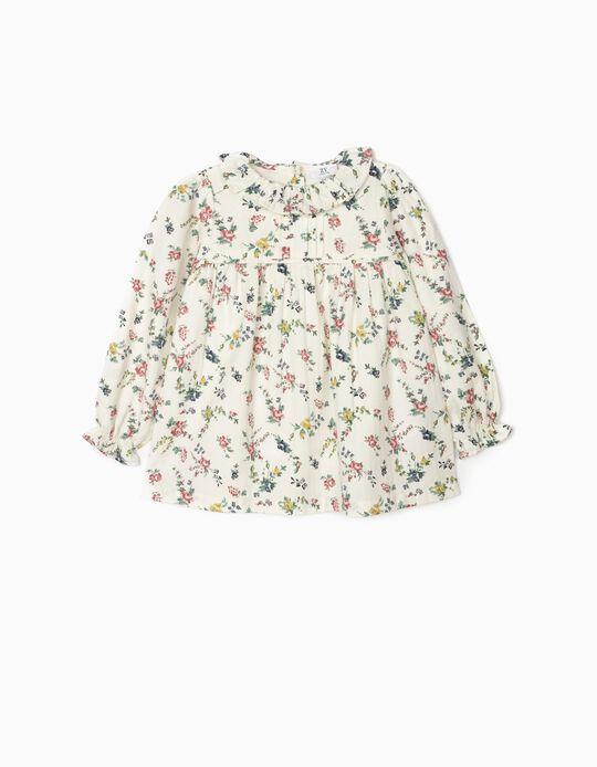 Blusa para Menina 'Flores', Branco