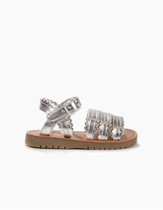 Sandálias para Bebé Menina, Prateado