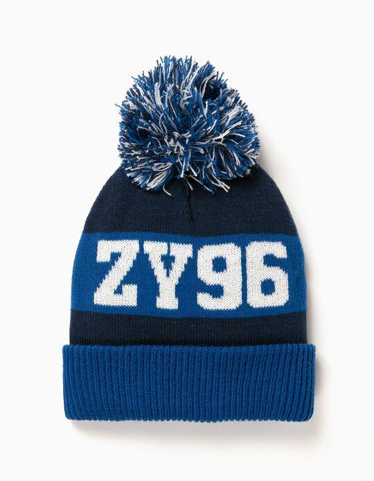 Gorro ZY 96 con Pompón Azul