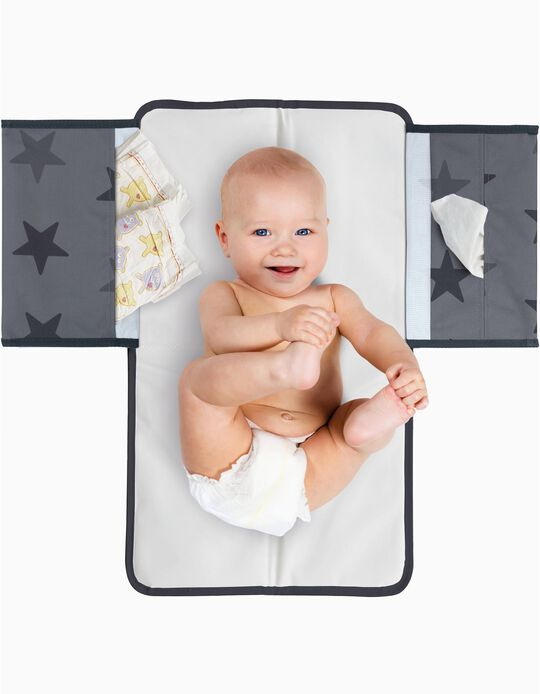 3-in-1 Baby Changer by Dooky, Grey Stars