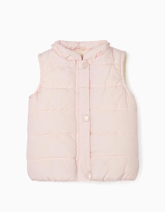 Padded Vest for Baby Girls, Light Pink