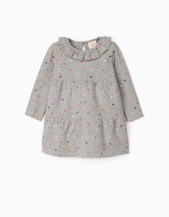 Vestido para Bebé Niña 'Colourful Hearts', Gris