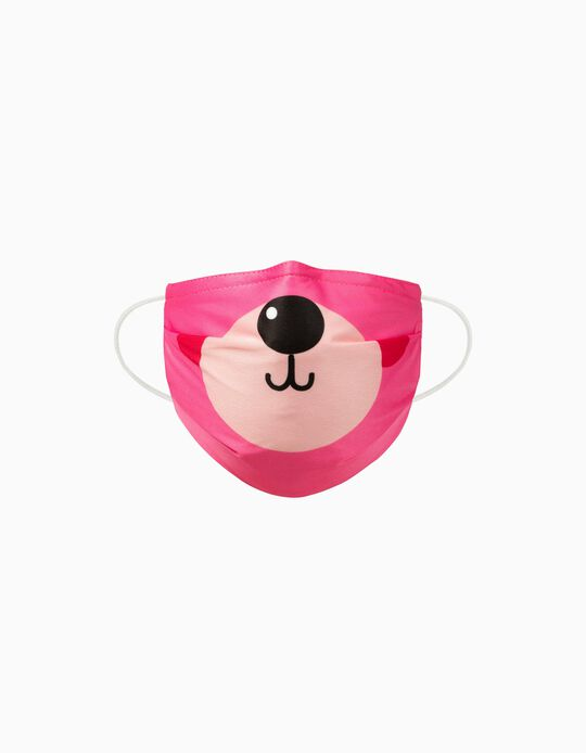 Child Face Mask 'Air Plus', Pink Bear