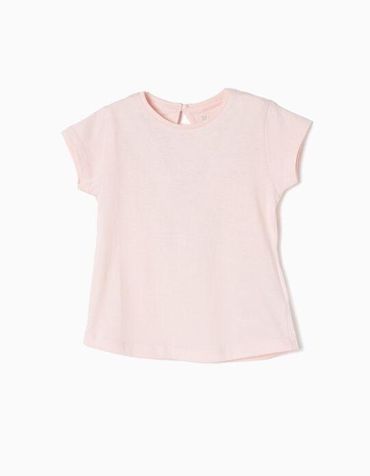 T-shirt para Bebé Menina, Rosa Claro