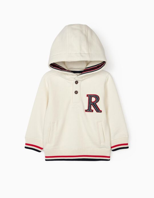 Hooded Sweatshirt for Baby Boys 'R', White