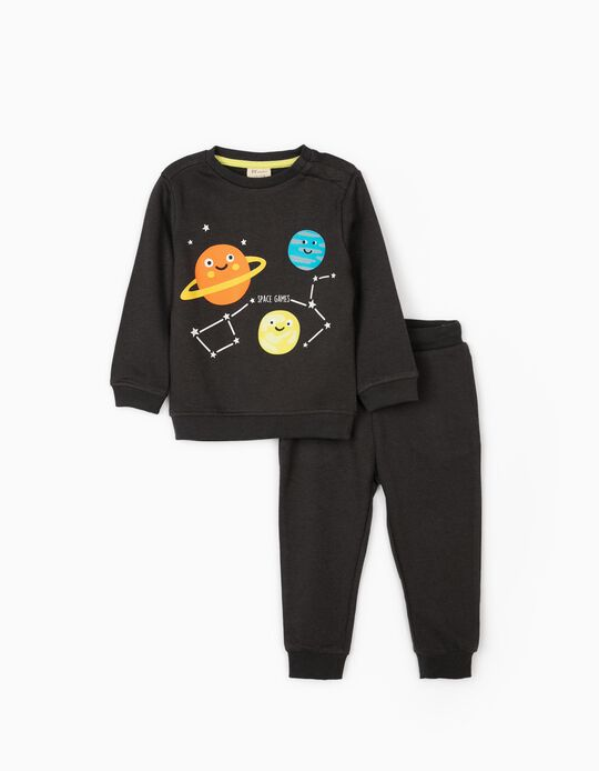 Tracksuit for Baby Boys 'Space Games', Dark Grey