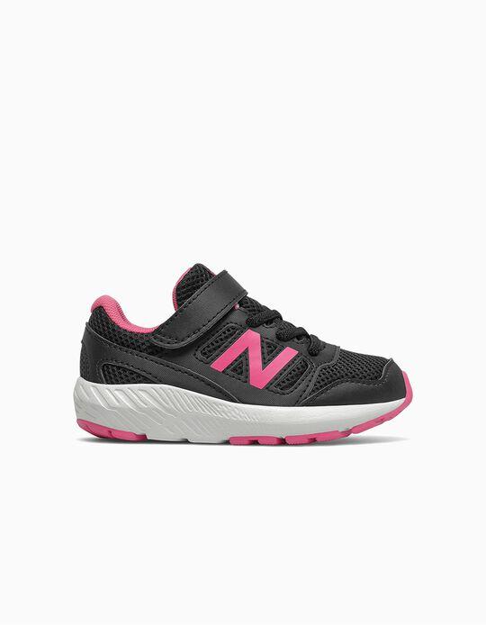 Sapatilhas para Menina 'New Balance 570', Preto/Rosa