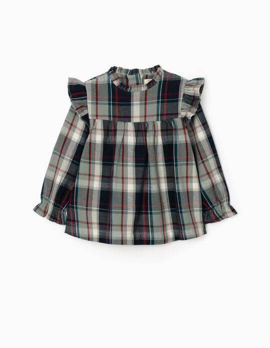 Blusa Xadrez para Bebé Menina  'B & S', Multicolor