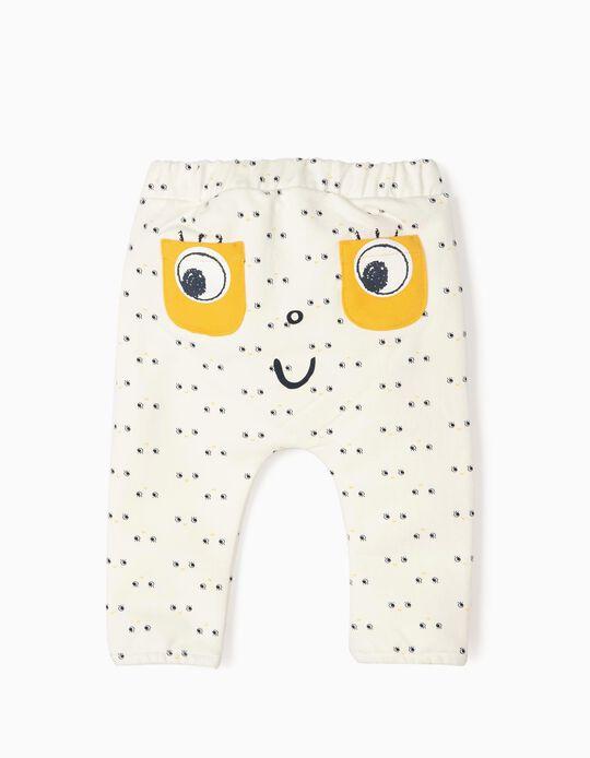 Pantalón para Recién Nacido 'Happy', Blanco