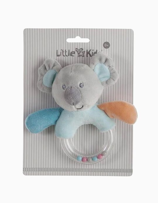 RATTLE 14CM KOALA LITTLE KIDS BLUE
