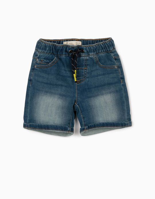 Denim Shorts for Baby Boys, Blue