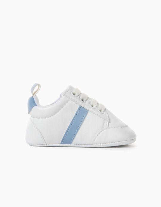 Zapatillas para Recién Nacido, Blanco/Azul