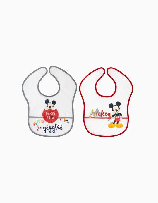 2 Babetes Impermeável Mickey Disney