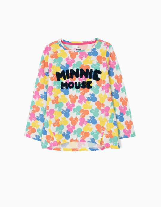Camiseta de Manga Larga para Niña 'Minnie Mouse', Multicolor