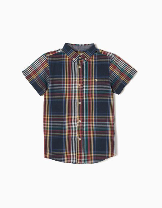 Camisa Manga Curta Colorida