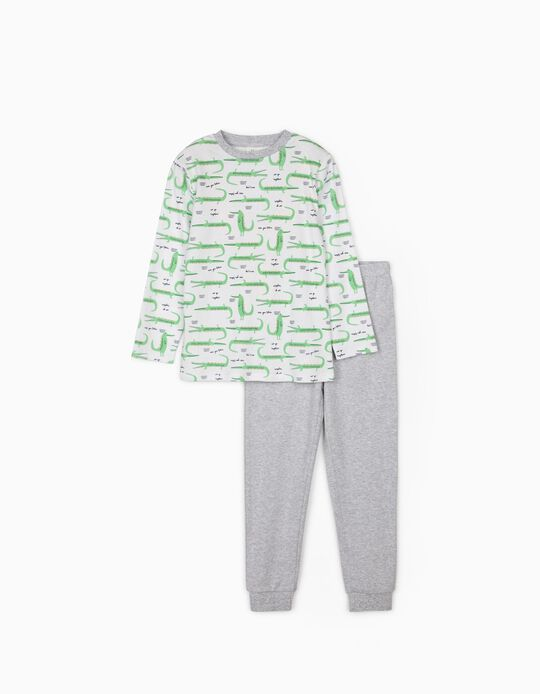 Pyjamas for Boys, 'Crocs', White/Grey
