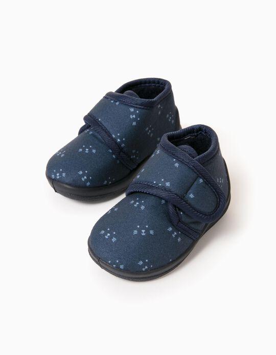 Slipper Boots for Baby Boys 'Animals', Dark Blue