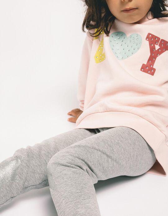 Sweatshirt para Menina 'ZY', Rosa Claro