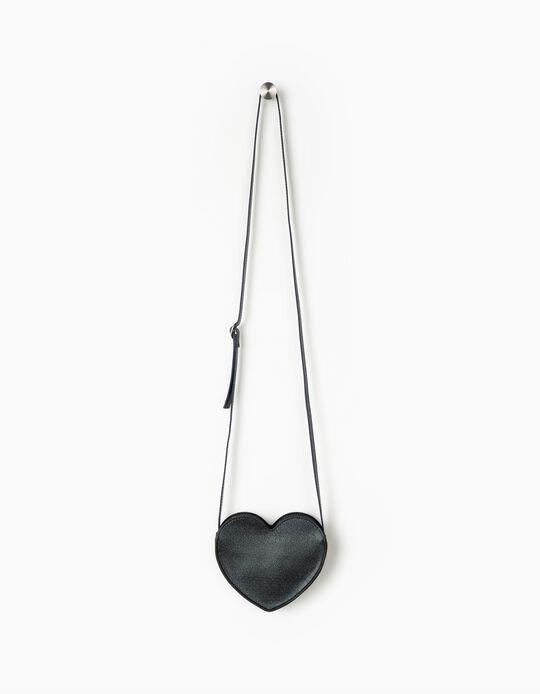 Bolsa a Tiracolo para Menina 'Heart', Azul Escuro