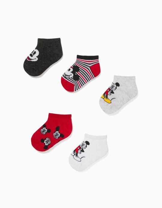 5 Paires de Socquettes Bébé Garçon 'Mickey', Multicolore