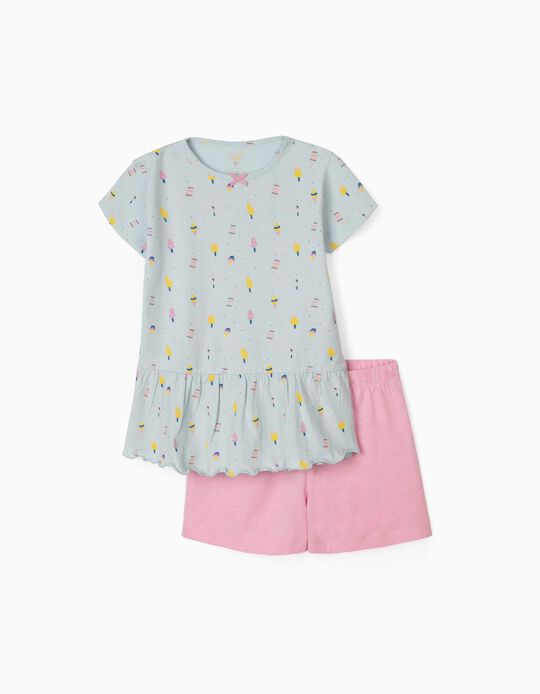 Pyjama fille 'Ice Creams', bleu/rose