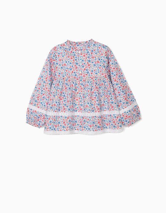 Blusa de flores para Niña, Multicolor