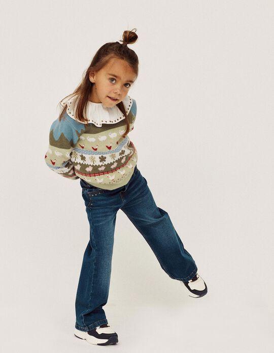 Camisola de Malha para Menina 'Farm', Multicolor