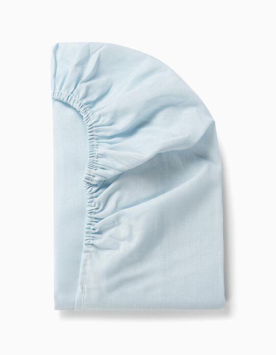 Sábana Ajustable de Cuna 85x55cm Interbaby Azul
