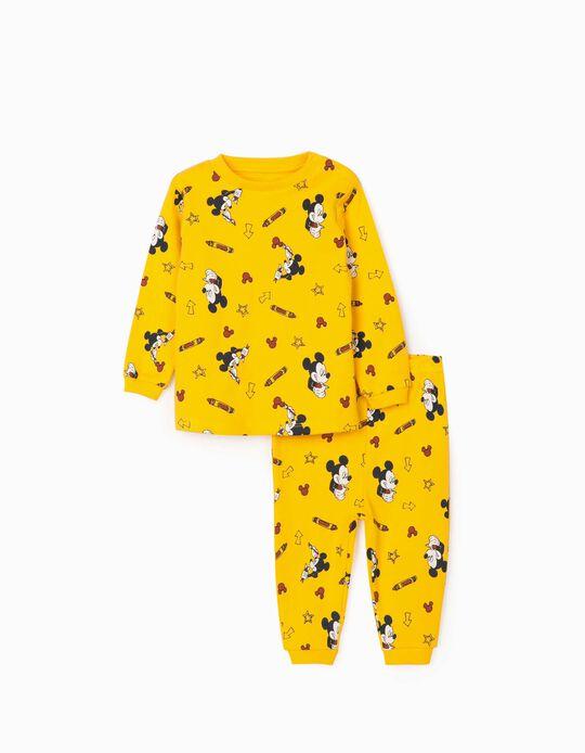 Pyjama Bébé garçon 'Mickey Artist', Jaune