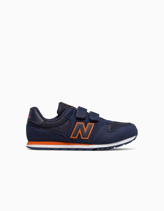 Zapatillas New Balance 500 para Bebé, Azul y Naranja
