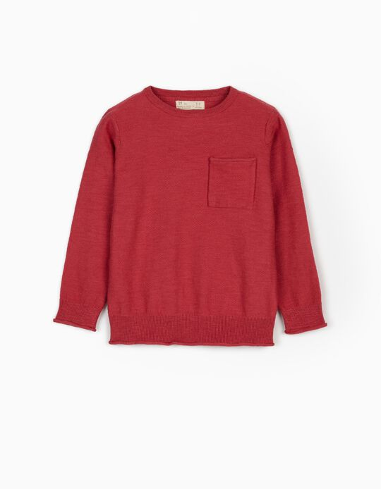 Jumper for Boys, Dark Red