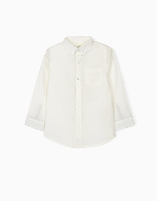Plumeti Shirt for Boys, 'B&S', White