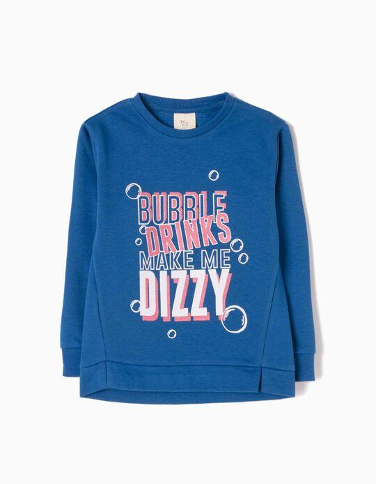 Sudadera Bubble Drinks Azul