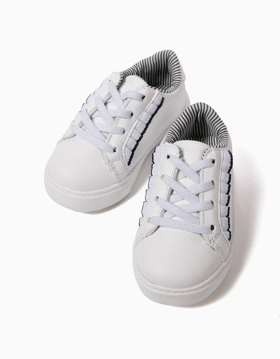 Zapatillas Blancas con Volantes