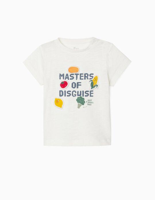 T-shirt para Bebé Menino 'Masters of Disguise', Branco