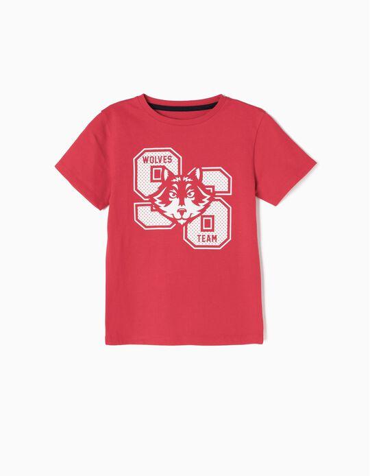 Camiseta Wolves 96 Roja