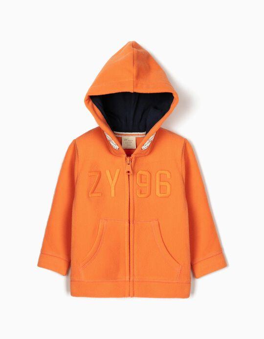 Polar Fleece Jacket for Baby Boys 'ZY 96', Orange